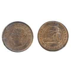 ONE CENT. 1871. ICCS Mint State-63. Red-Brown. 50% luster. A choice non-Heaton hoard mint state exam