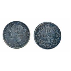 1890. 1894. Obv. port. #3. 1896. All three are ICCS Fine-15.