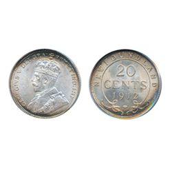 1912. PCGS graded. Mint State-66. Light to medium heavy rainbow toning. Ex. Baldwin's, London, UK.