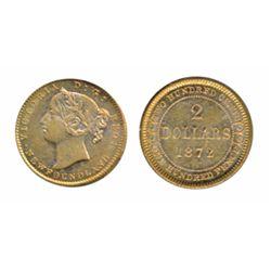 1872. ICCS Extra Fine-45. Lustrous yellow.