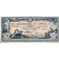 THE BANK OF BRANTFORD. $5.00. Nov. 1, 1859. CH-40-12- 08R. A Remainder. PMG graded AU-58. EPQ.