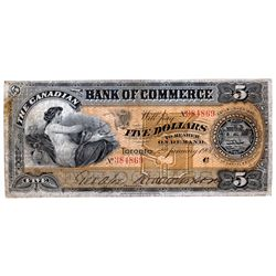 THE CANADIAN BANK OF COMMERCE. $5.00. Jan. 2, 1901. CH-75-14-06. No. 384869/C. PMG graded Choice Fin