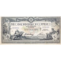 THE CANADIAN BANK OF COMMERCE. $10.00. Jan. 2, 1917. CH-75-16-02-06. No. 223016/A. White background.