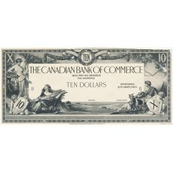 THE CANADIAN BANK OF COMMERCE. $10.00. Jan. 2, 1917. CH-75-16-02-06P. Black and White Face and Back