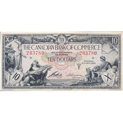 THE CANADIAN BANK OF COMMERCE. $10.00. Jan. 2, 1935. CH-75-18-06. No. 293780/D. Logan, right. PMG gr