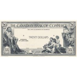 THE CANADIAN BANK OF COMMERCE. $20.00. Jan. 2, 1935. CH-75-18-10P. A Black and White Face Proof on a