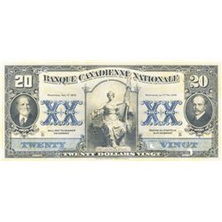 BANQUE CANADIENNE NATIONALE. $20.00. Feb. 1, 1929. CH-85-12-06P. A Face Proof on thin paper. Two tin