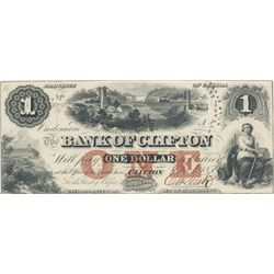 THE BANK OF CLIFTON. $1.00. Oct. 1, 1859. CH-125-10-04- 02. No. 8144/A. 'Ottawa, Ill' o/p in black.