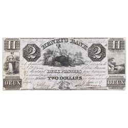 HENRY'S BANK. $2.00. June 27, 1837. CH-357-12-04. No. 8089/A. Fine.