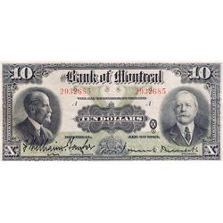 THE BANK OF MONTREAL. $10.00. Jan. 2, 1923. CH-505- 56-04. No. 2932685/A. PCGS graded Extra Fine-40.
