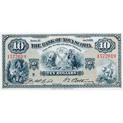 THE BANK OF NOVA SCOTIA. $10.00. Jan. 2, 1935. CH-550-36-04. No. 1572019. Signed McLeod-Patterson. B