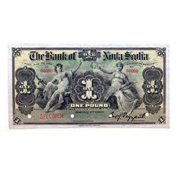 THE BANK OF NOVA SCOTIA. Kingston, Jamaica. One Pound. Jan. 2, 1900. CH-550-38-02-02S. No. 00000 A f