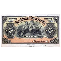 THE BANK OF NOVA SCOTIA. Kingston, Jamaica. Five Pounds. Jan. 2, 1920. CH-550-38-02-08S. No. 00000.