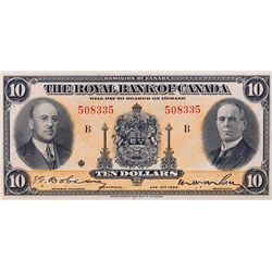 THE ROYAL BANK OF CANADA. $10.00. Jan. 2, 1935. No. 508335/B. CH-630-18-04a. PCGS graded Unc-63. PPQ