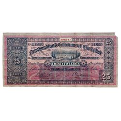 NEWFOUNDLAND GOVERNMENT CASH NOTE. 50 Cents????. 1912-13. NF-7c. No. 11800. PMG graded Very Fine-30.