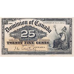 DOMINION OF CANADA. 25 CENTS. Jan. 2, 1900. DC-15a. Courtney. PCGS graded AU-53. PPQ.