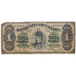 DOMINION OF CANADA. $1.00. June 1, 1878. DC-8a. Payable at Montreal. Scalloped Border. No. 096699/C.
