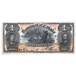 DOMINION OF CANADA. $1.00. March 31, 1898. DC-13c. No. 933538/C. Boville. PMG graded Extra Fine-40.