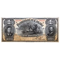 DOMINION OF CANADA. $1.00. March 31, 1898. DC-13c. No. 016381/D. Boville. PMG graded Very Fine-30. A