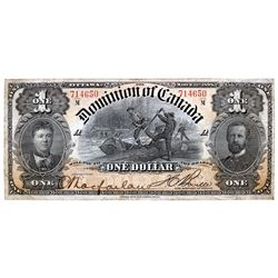 DOMINION OF CANADA. $1.00. March 31, 1898. DC-13c. No. 714650/A. Boville. PMG graded Very Fine-25.