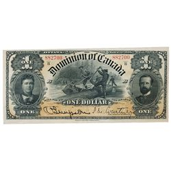 DOMINION OF CANADA. $1.00. March 31, 1898. DC-13a. No. 882700/B. Series 'B'. Signed J.M. Courtney, r