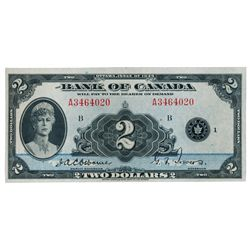 BANK OF CANADA. $2.00. 1935 Issue. English Text. BC-3. No. A3464020/B. Unc.