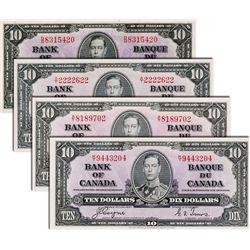BANK OF CANADA. $10.00. 1937 Issue. BC-24b. No. D/D8315420. BCS graded Choice Unc-62, (original); BC