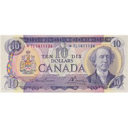 BANK OF CANADA. $10.00. 1971 Issue. BC-49cA. Lawson- Bouey. No. *TL1411126. PCGS graded Unc-62. PPQ.