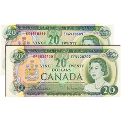 BANK OF CANADA. $20.00. 1969 Issue. BC-50a. Beattie-Rasminsky. No. EC6910689. CCCS graded Choice Unc