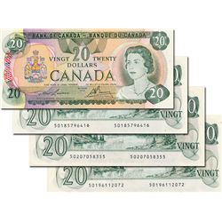 BANK OF CANADA. $20.00. 1979 Issue. BC-54a. Lawson-Bouey. No. 50117614186, 50185796416, 50196112072
