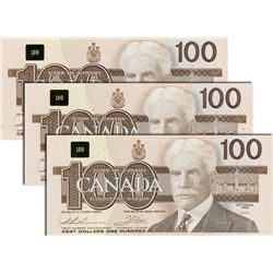 BANK OF CANADA. $100.00. 1988 Issue. BC-60a-i. Clear BPN. No. BJD6504705. CCCS graded Gem Unc-66; No
