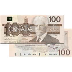 BANK OF CANADA. $100.00. 1988 Issue. BC-60a-i. Thiessen-Crow. No. BJD6459438. Clear BPN. CCCS graded
