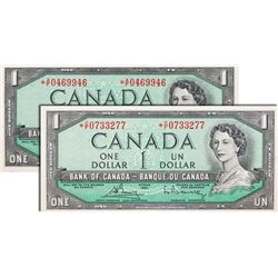 BANK OF CANADA. $1.00. 1954 Issue. BC-37bA. No. *AF0469946. PCGS graded Choice Unc-64. PPQ. $1.00. 1
