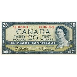 BANK OF CANADA. $20.00. 1943 Issue. BC-41bA. No. *A/E0029024. PCGS graded VF-30 PPQ.