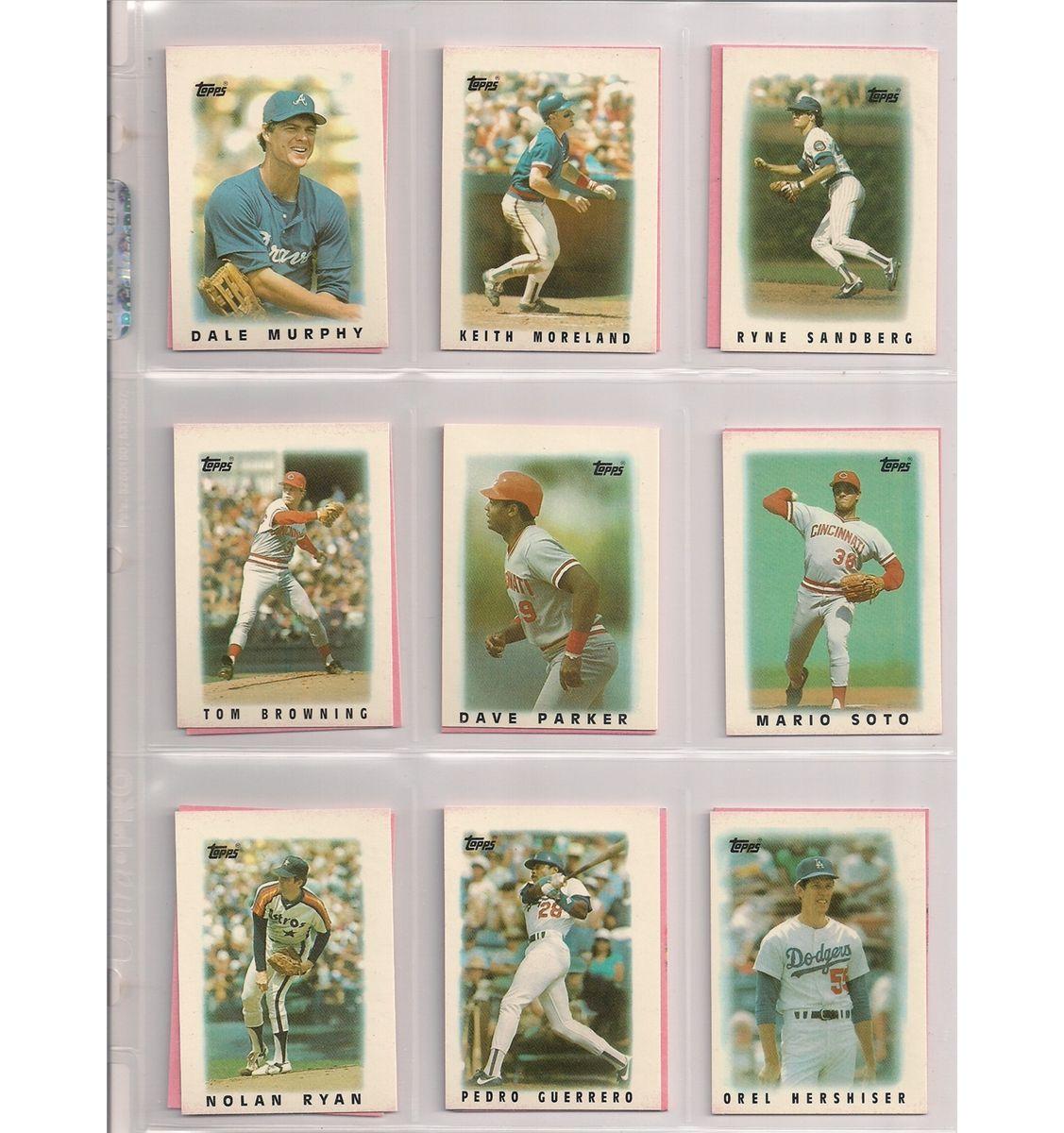 1986 Topps Mini League Leader 66 Card Baseball Set