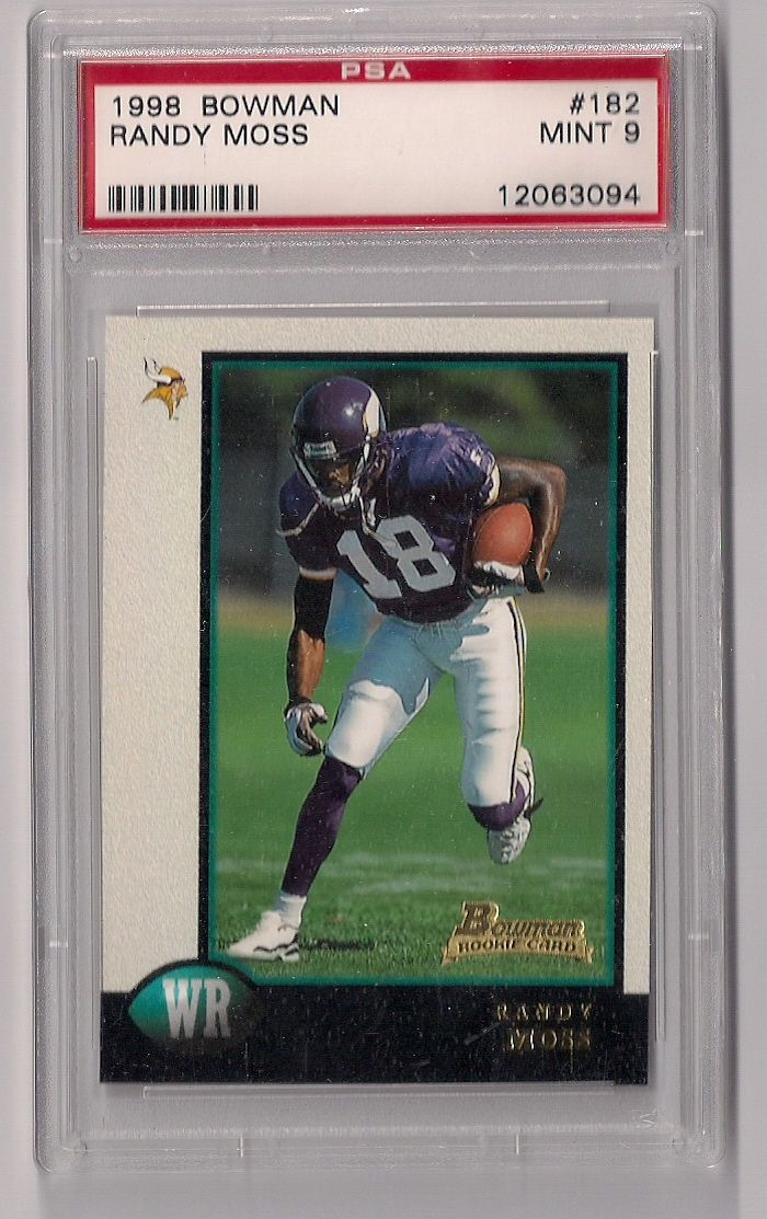 1998 Bowman Randy Moss Rookie Card Psa 9