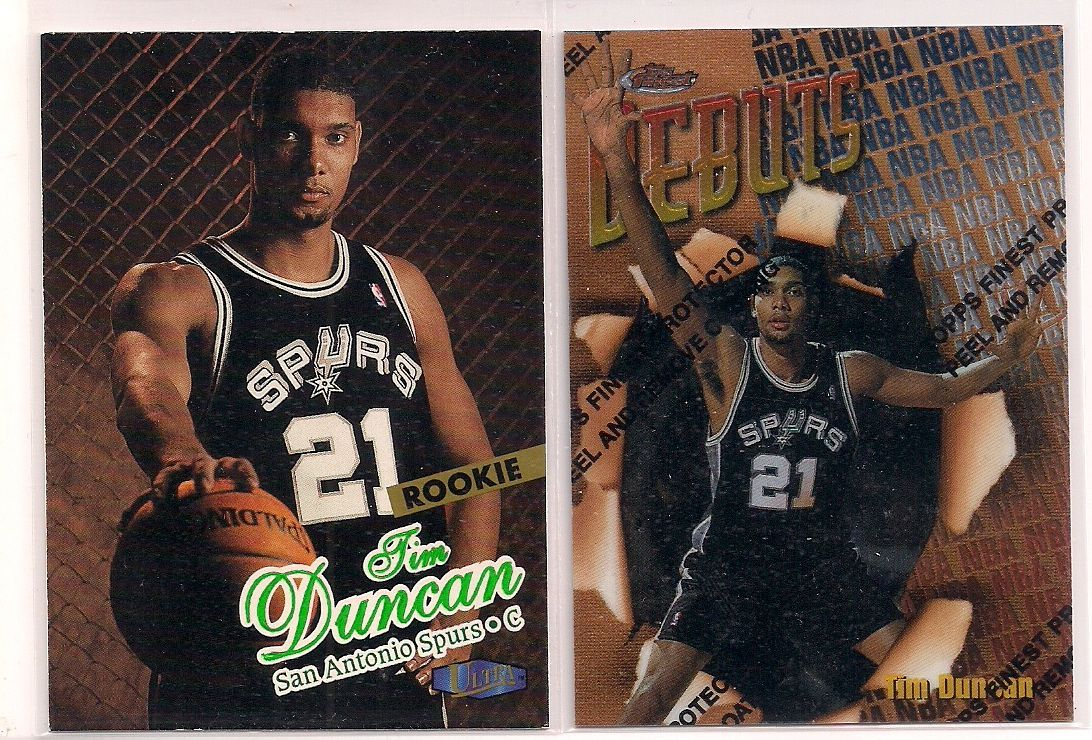 Lot Of 2 Tim Duncan Rookie Cards