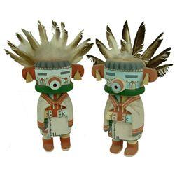 2 Hopi Katsina Carvings - Chester Polyestewa