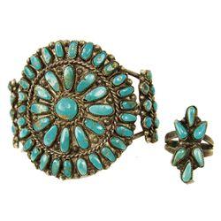 Zuni Bracelet and Ring