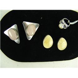 Silver with Mother-of-pearl Earrings