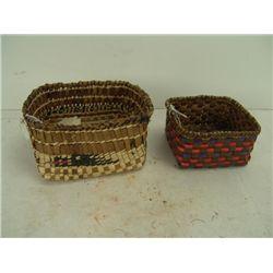 2 Cedar Bark Baskets