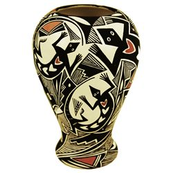 Acoma Pottery Vessel - J & B Cerno