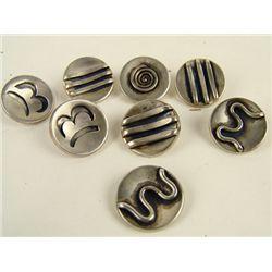 Handmade Silver Buttons - Sanperson