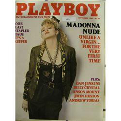 VINTAGE PLAYBOY MAGAZINE SEPTEMBER 1985 ISSUE MADONNA NUDE