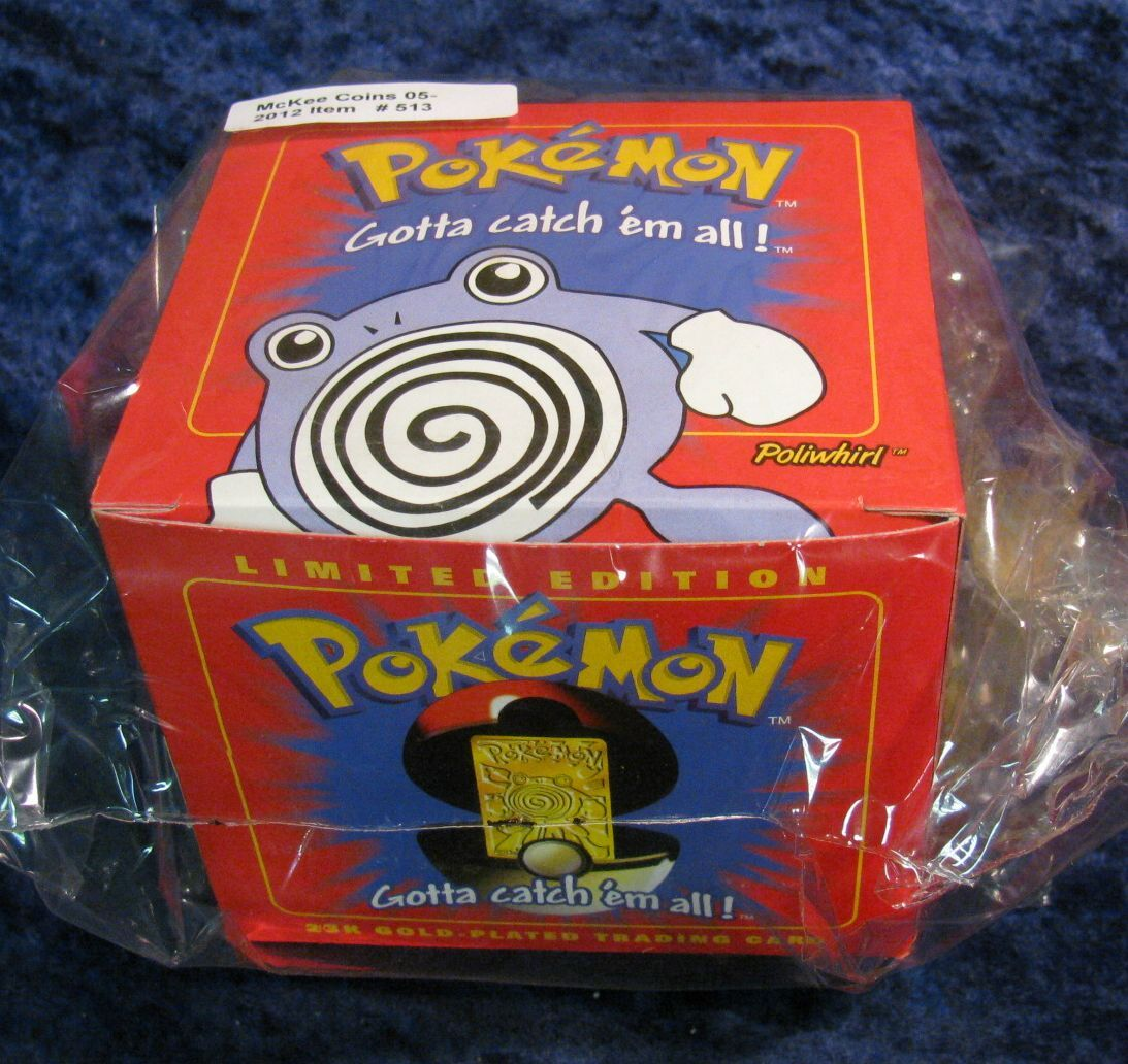 pokemon limited edition 23k gold plated trading card