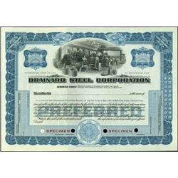 Brainard Steel Corp. Stock Certificates,
