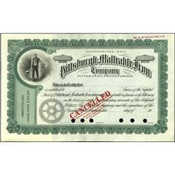 Pittsburgh Malleable Iron Company Stock Specimen,