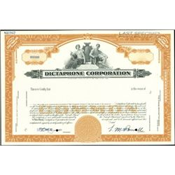 Dictaphone Corporation Stock Certificate Group