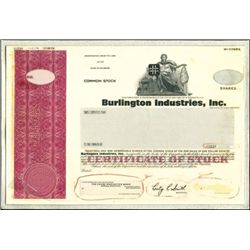 Burlington Industries, Inc. Unique Production File