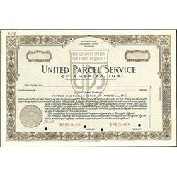 "United Parcel Service of America, Inc. ""UPS""."